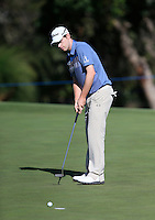 Kevin Phelan (IRL) on the 9th during Round 1 of the ISPS HANDA Perth International at the Lake Karrinyup Country Club on Thursday 23rd October 2014.<br /> Picture:  Thos Caffrey / www.golffile.ie