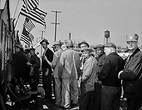Workplace Democracy: Election of officers to the Ford local 600, United Automobile Workers, Congress of Industrial Organizations. 80,000 River Rouge Ford plant workers voted, April 19, 1942.<br /> <br /> Photo by Arthur S. Siegel.