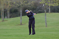Emilie Myklebust Bjoerge (NOR) on the 14th fairway during Round 1 of the Irish Girls U18 Open Stroke Play Championship at Roganstown Golf &amp; Country Club, Dublin, Ireland. 05/04/19 <br /> Picture:  Thos Caffrey / www.golffile.ie