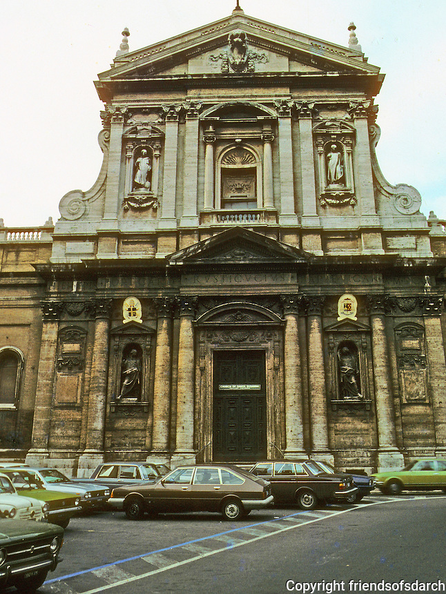"Italy: Rome--Church of S. Susanna, 1603, in Piazza S. Bernardo. Carlo Maderna, 1556-1629.  ""One of the First Baroque Architects...""  p. 32, AGE OF GRANDEUR.  Photo '82."