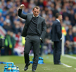 Brendan Rodgers celebrates as his side take the lead