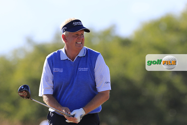 Colin Montgomerie (SCO) on the 4th tee during Friday's Round 2 of the 2015 U.S. Open 115th National Championship held at Chambers Bay, Seattle, Washington, USA. 6/20/2015.<br /> Picture: Golffile | Eoin Clarke<br /> <br /> <br /> <br /> <br /> All photo usage must carry mandatory copyright credit (&copy; Golffile | Eoin Clarke)