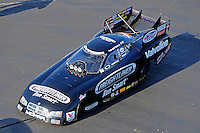 Apr. 13, 2012; Concord, NC, USA: The car of NHRA funny car driver Jack Beckman during qualifying for the Four Wide Nationals at zMax Dragway. Mandatory Credit: Mark J. Rebilas-