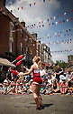 22/06/14<br /> <br /> Performers entertain crowds at Ashbourne Festival.<br /> <br /> All Rights Reserved: F Stop Press Ltd. +44(0)1335 300098   www.fstoppress.com.