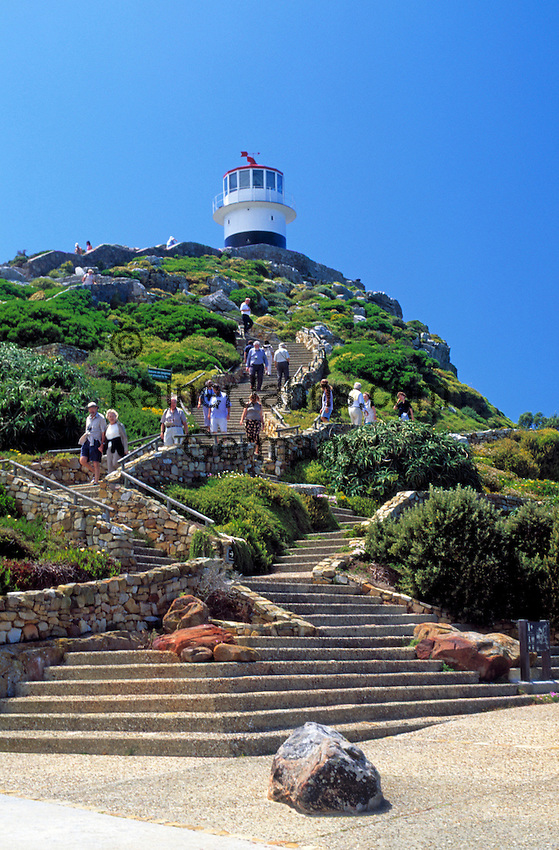 South Africa, Cape Town, Cape Peninsula National Park: lighthouse at Cape Point