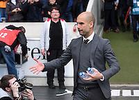 Fussball  1. Bundesliga  Saison 2015/2016  29. Spieltag  VfB Stuttgart  - FC Bayern Muenchen    09.04.2016 Trainer Pep Guardiola (FC Bayern Muenchen)
