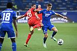 Zweikampf, Duell zwischen Ellyes Skhiri (1. FC Koeln) und Christoph Baumgartner (Hoffenheim).<br /> <br /> Sport: Fussball: 1. Bundesliga: Saison 19/20: 28. Spieltag: TSG 1899 Hoffenheim - 1. FC Koeln, 27.05.2020<br /> <br /> Foto: Markus Gilliar/GES/POOL/PIX-Sportfotos.<br /> <br /> Nur für journalistische Zwecke! Only for editorial use!<br /> <br /> Gemäß den Vorgaben der DFL Deutsche Fußball Liga ist es untersagt, in dem Stadion und/oder vom Spiel angefertigte Fotoaufnahmen in Form von Sequenzbildern und/oder videoähnlichen Fotostrecken zu verwerten bzw. verwerten zu lassen. DFL regulations prohibit any use of photographs as image sequences and/or quasi-video.