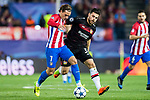 Antoine Griezmann (l) of Atletico de Madrid battles for the ball with Kevin Volland of Bayer 04 Leverkusen during their 2016-17 UEFA Champions League Round of 16 second leg match between Atletico de Madrid and Bayer 04 Leverkusen at the Estadio Vicente Calderon on 15 March 2017 in Madrid, Spain. Photo by Diego Gonzalez Souto / Power Sport Images