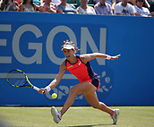 June 17th 2017, Nottingham, England;WTA Aegon Nottingham Open Tennis Tournament day 6;  Johanna Konta of Great Britain in action in her semi final match against Magdalena Rybarikova of The Slovak Republic