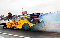 Feb 21, 2020; Chandler, Arizona, USA; NHRA funny car driver J.R. Todd during qualifying for the Arizona Nationals at Wild Horse Pass Motorsports Park. Mandatory Credit: Mark J. Rebilas-USA TODAY Sports