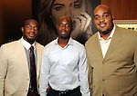 From left: Kareem Jackson, Jonathan Joseph and Travis Johnson at a VIP preview event for David Yurman's Meteorite Collection Tuesday Oct. 29,2013.  (Dave Rossman photo)
