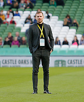 3rd November 2019; Aviva Stadium, Dublin, Leinster, Ireland; FAI Cup Womens Final Football, Peamount United versus Wexford Youth Womens Football Club; Wexford Youths manager Tom Elmes looks on during the warm up - Editorial Use