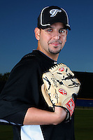 March 1, 2010:  Pitcher Willie Collazo (67) of the Toronto Blue Jays poses for a photo during media day at Englebert Complex in Dunedin, FL.  Photo By Mike Janes/Four Seam Images