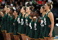 15.09.2018 South Africa during the Australia v South Africa netball test match at Spark Arena in Auckland. Mandatory Photo Credit ©Michael Bradley.