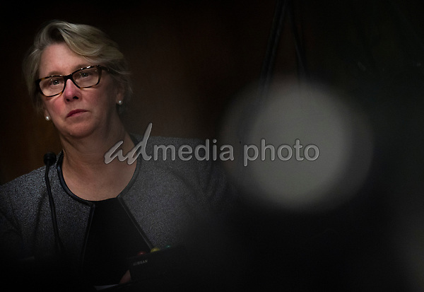 """Associate Commissioner for Regulatory Affairs, Office of Regulatory Affairs Food and Drug Administration, Judith A. McMeekin looks on during a United States Senate Finance Committee hearing on """"COVID-19 and Beyond: Oversight of the FDA's Foreign Drug Manufacturing Inspection Process"""" at the US Capitol in Washington, DC on June 2, 2020.<br /> Credit: Andrew Caballero-Reynolds / Pool via CNP/AdMedia"""