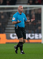 Referee Simon Hooper <br /> <br /> Photographer David Horton/CameraSport<br /> <br /> The Premier League - Bournemouth v Wolverhampton Wanderers - Saturday 23rd November 2019 - Vitality Stadium - Bournemouth<br /> <br /> World Copyright © 2019 CameraSport. All rights reserved. 43 Linden Ave. Countesthorpe. Leicester. England. LE8 5PG - Tel: +44 (0) 116 277 4147 - admin@camerasport.com - www.camerasport.com