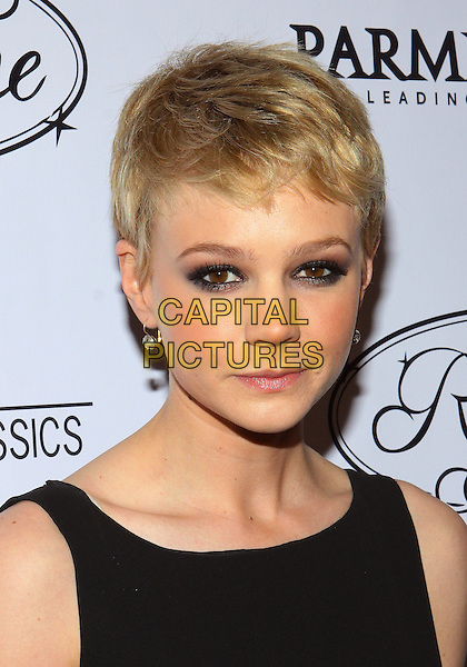CAREY MULLIGAN.Parmigiani Watches & Raffone Luggage Sony Pictures Classics Oscar Party  held at II Cielo Restaurant, Beverly Hills, California, USA..March 6th, 2010.headshot portrait black eyeliner make-up beauty .CAP/ADM/TC.©T. Conrad/AdMedia/Capital Pictures.