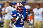 Southern Methodist Mustangs cornerback Ar'mani Johnson (5) in action during the game between the Tulsa Golden Hurricanes and the SMU Mustangs at the Gerald J. Ford Stadium in Fort Worth, Texas.
