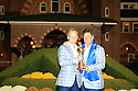 Luke Donald of Team Europe poses with Jose Maria Olazabal after the closing ceremony of the 39th Ryder Cup matches, Medinah Country Club, Chicago, Illinois, USA.  28-30 September 2012 (Picture Credit / Phil Inglis)