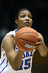 17 November 2013: Duke's Richa Jackson. The Duke University Blue Devils played the University of Alabama Crimson Tide at Cameron Indoor Stadium in Durham, North Carolina in a 2013-14 NCAA Division I Women's Basketball game. Duke won the game 92-57.