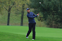 Nicolas Colsaerts (BEL) on the 1st fairway during Round 4 of the Amundi Open de France 2019 at Le Golf National, Versailles, France 20/10/2019.<br /> Picture Thos Caffrey / Golffile.ie<br /> <br /> All photo usage must carry mandatory copyright credit (© Golffile | Thos Caffrey)