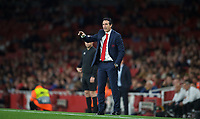 Arsenal Manager Unai Emery during the UEFA Europa League match group between Arsenal and Vorskla Poltava at the Emirates Stadium, London, England on 20 September 2018. Photo by Andrew Aleks / PRiME Media Images.