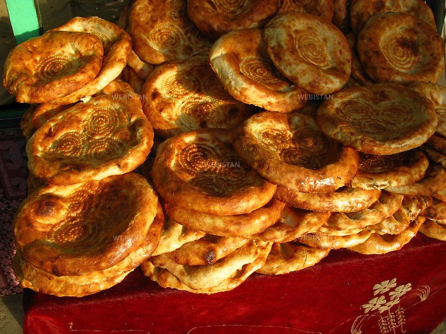 AFGHANISTAN - KABOUL - aout 2009 : pain afghan (nan). ..AFGHANISTAN - KABUL - August 2009 : Afghan bread (nan).