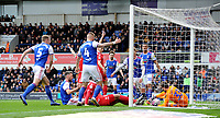Nottingham Forest's Molla Wagu&eacute; scores his side's first goal  <br /> <br /> Photographer Hannah Fountain/CameraSport<br /> <br /> The EFL Sky Bet Championship - Ipswich Town v Nottingham Forest - Saturday 16th March 2019 - Portman Road - Ipswich<br /> <br /> World Copyright &copy; 2019 CameraSport. All rights reserved. 43 Linden Ave. Countesthorpe. Leicester. England. LE8 5PG - Tel: +44 (0) 116 277 4147 - admin@camerasport.com - www.camerasport.com