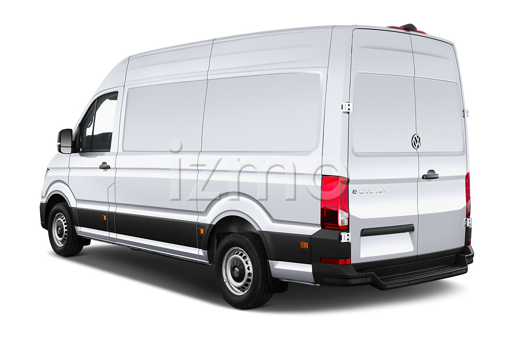 Car pictures of rear three quarter view of 2020 Volkswagen Crafter e-Crafter 4 Door Cargo Van Angular Rear