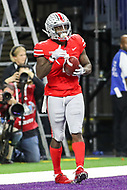 Indianapolis, IN - December 1, 2018: Ohio State Buckeyes wide receiver Johnnie Dixon (1) catches a touchdown during the Big Ten championship game between Northwestern  and Ohio State at Lucas Oil Stadium in Indianapolis, IN.   (Photo by Elliott Brown/Media Images International)