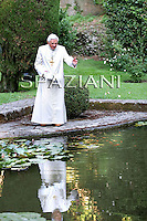 Pope Benedict XVI during his holiday at Castel Gandolfo, near Rome,Italy.July 23, 2010