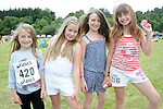 Leah and Alex Pidgeon, Lauren Richardson and Taylor Hanrahan pictured at the Ladywell Fete held in the grounds of Slane castle. Photo: www.pressphotos.ie