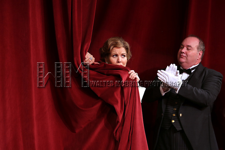 Renee Fleming and Blake Hammond during the Broadway Opening Night Performance Curtain Call for 'Living on Love' at The Longacre Theatre on April 20, 2015 in New York City.