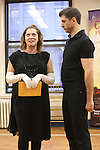 Rachel Bloom and Tony Yazbeck during the Press Rehearsal for the Manhattan Concert Production of 'Crazy For You'  at Pearl Studios on February 16, 2017 in New York City.