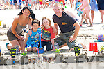 SANDCASTLE: On Saturday the Kenny Family and friend from Ballyheigue, Seán, Mags and Colin and Oisín Dowling entered their Sand Castle in the Sandcastle competition in conjuction with the Ballyheigue Summer Festival.