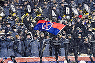 PHILADELPHIA, PA - DEC 9, 2017: Army Black Knights fans are fired up after the go ahead touchdown is scored late in the 4th quarter of the game between Army and Navy at Lincoln Financial Field Philadelphia, PA. Army defeated Navy 14-13 to win the Commander in Chief Cup. (Photo by Phil Peters/Media Images International)
