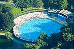 Aerial photographs of central park pool midtown Manhattan, New York, New York,