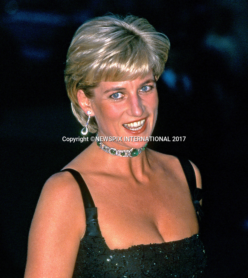 01.07.1997; London, UK: DIANA, PRINCESS OF WALES<br /> in a shimmering low-cut sequinned black dress celebrated her last (36th) birthday by attending a charity dinner at the Tate Gallery.<br /> This was the Princess' last public engagement prior to her fatal accident in Paris two months later on 31st August 1997.<br /> Mandatory Credit Photo: &copy;Francis Dias/NEWSPIX INTERNATIONAL<br /> <br /> IMMEDIATE CONFIRMATION OF USAGE REQUIRED:<br /> Newspix International, 31 Chinnery Hill, Bishop's Stortford, ENGLAND CM23 3PS<br /> Tel:+441279 324672  ; Fax: +441279656877<br /> Mobile:  07775681153<br /> e-mail: info@newspixinternational.co.uk<br /> Usage Implies Acceptance of OUr Terms &amp; Conditions<br /> Please refer to usage terms. All Fees Payable To Newspix International
