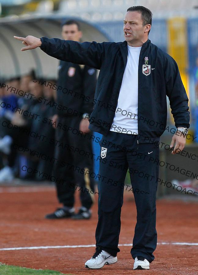 Fudbal Super liga season 2013-2014<br /> Ofk Beograd v Jagodina<br /> Head coach Mladen Dodic<br /> Beograd, 09.11.2013.<br /> foto: Srdjan Stevanovic/Starsportphoto &copy;