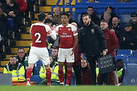 Cohen Bramall of Arsenal replaces Carl Jenkinson in the second half during Chelsea Under-23 vs Arsenal Under-23, Premier League 2 Football at Stamford Bridge on 15th April 2019