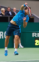 Rotterdam, The Netherlands. 13.02.2014. Dominic Thiem (OOS) at the ABN AMRO World tennis Tournament<br /> <br /> Photo:Tennisimages/Henk Koster