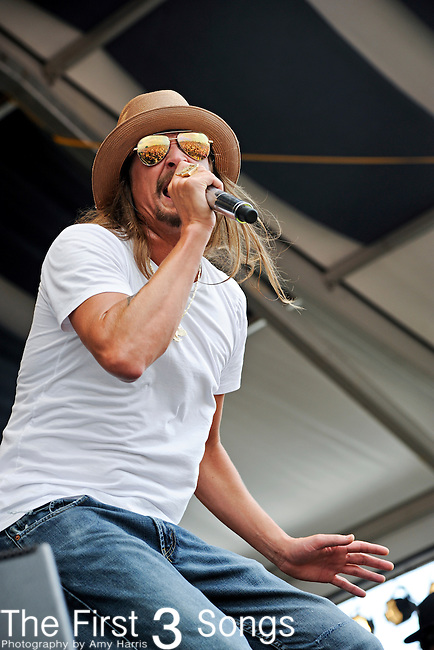 Kid Rock and Twisted Brown Trucker perform during the New Orleans Jazz & Heritage Festival in New Orleans, LA on May 8, 2011.