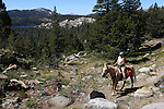Lower Blue Lakes can be seen in the distance during a horseback ride to Lost Lakes in Alpine County, near Hope Valley, Ca., on Wednesday, Aug. 24, 2011..Photo by Cathleen Allison