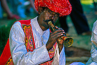 Rajasthani musician at the Pushkar Fair (camel fair), Pushkar, Rajasthan, India