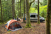 USA, Oregon, Santiam River, Brown Cannon, a campground near the Santiam River in the Willamete National Forest
