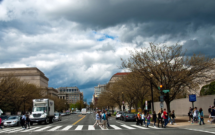Downtown DC with Moody Skies