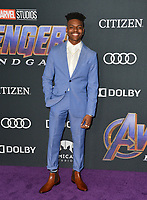 "LOS ANGELES, USA. April 22, 2019: Aubrey Joseph at the world premiere of Marvel Studios' ""Avengers: Endgame"".<br /> Picture: Paul Smith/Featureflash"