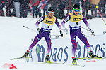 HOLMENKOLLEN, OSLO, NORWAY - March 16: (R-L) Taihei Kato of Japan (JPN) and Yoshito Watabe of Japan (JPN) during the cross country 15 km (2 x 7.5 km) competition at the FIS Nordic Combined World Cup on March 16, 2013 in Oslo, Norway. (Photo by Dirk Markgraf)