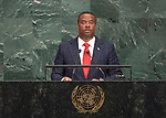 72 General Debate &ndash; 23rd of September  2017<br /> <br /> H.E. Mark Anthony BRANTLEY<br /> <br /> Minister for Foreign Affairs and<br /> Aviation of<br /> SAINT KITTS AND NEVIS