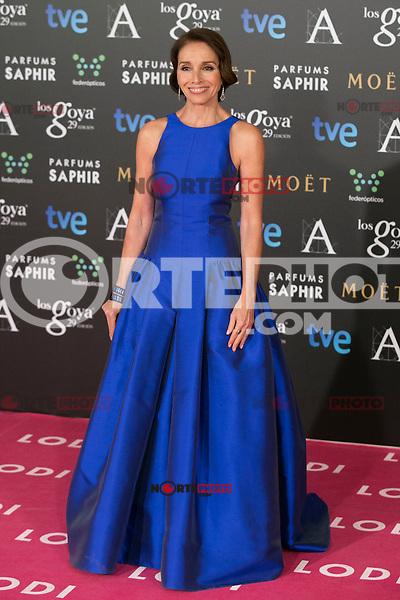 Ana Belen attend the 2015 Goya Awards at Auditorium Hotel, Madrid,  Spain. February 07, 2015.(ALTERPHOTOS/)Carlos Dafonte) /NORTEphoto.com